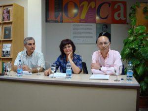 Ángeles Mora con Sarria y Gahete
