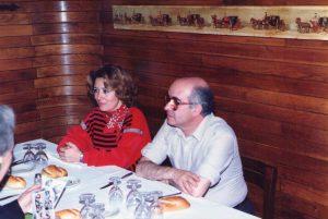 Encarna León y Miguel Fernández. Café Gijón. Madrid, 1988