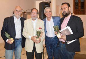 FOTO JUVENAL SOTO5Guadix. 2 de junio de 2017. P remios Andalucía de la crítica. Con Antonio Enrique.