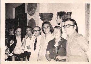 FOTO JUVENAL SOTO7El jurado del Premio Cero de Po esía 1972. Glorira Fuertes, Antonio_Gala, Rafael Pérez Estrada Pepe Mercado y José Infante